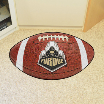 "20.5"" x 32.5"" Purdue University Train Logo Football Shape Mat"