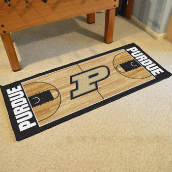 "30"" x 72"" Purdue University NCAA Basketball Rectangle Runner Mat"