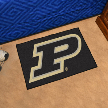 "19"" x 30"" Purdue University Black Rectangle Starter Mat"
