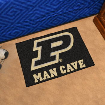 "19"" x 30"" Purdue University Man Cave Starter Black Rectangle Mat"