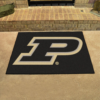 "33.75"" x 42.5"" Purdue University All Star Black Rectangle Mat"