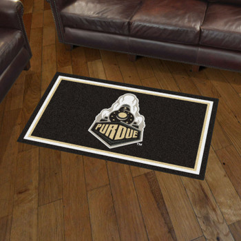 3' x 5' Purdue University Black Rectangle Rug