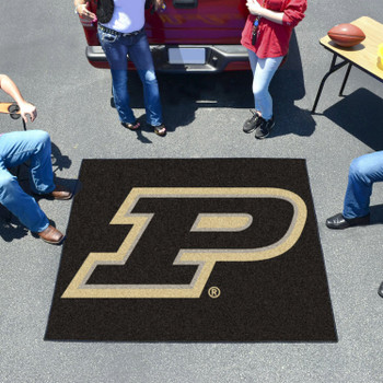 "59.5"" x 71"" Purdue University Black Tailgater Mat"