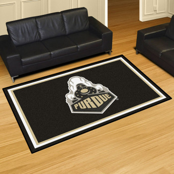5' x 8' Purdue University Black Rectangle Rug