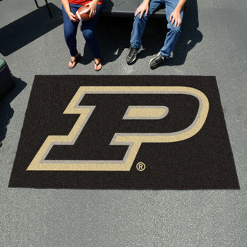 "59.5"" x 94.5"" Purdue University Black Rectangle Ulti Mat"