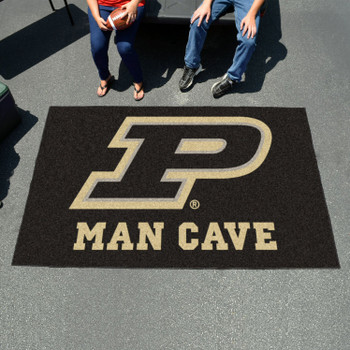 "59.5"" x 94.5"" Purdue University Man Cave Black Rectangle Ulti Mat"