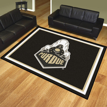 8' x 10' Purdue University Black Rectangle Rug