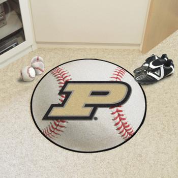 "27"" Purdue University Baseball Style Round Mat"