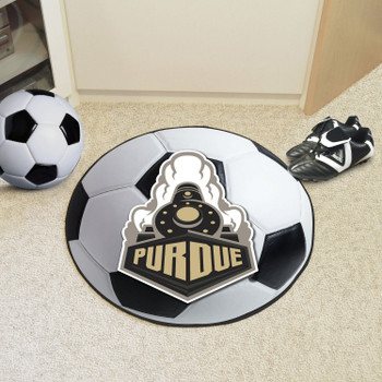 "27"" Purdue University Train Logo Soccer Ball Round Mat"