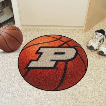 "27"" Purdue University Orange Basketball Style Round Mat"
