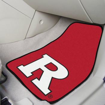 Rutgers University Red Carpet Car Mat, Set of 2