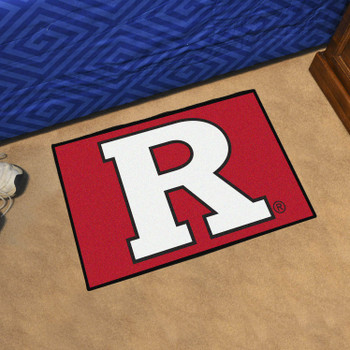 "19"" x 30"" Rutgers University Red Rectangle Starter Mat"