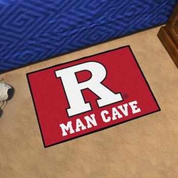"19"" x 30"" Rutgers University Man Cave Starter Red Rectangle Mat"