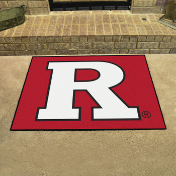 "33.75"" x 42.5"" Rutgers University All Star Red Rectangle Mat"