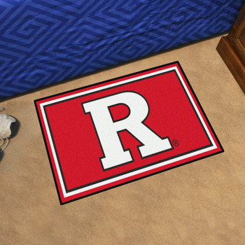 3' x 5' Rutgers University Red Rectangle Rug