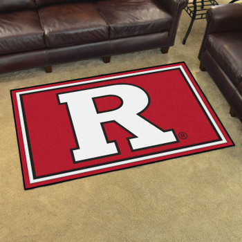 4' x 6' Rutgers University Red Rectangle Rug