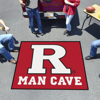 "59.5"" x 71"" Rutgers University Man Cave Tailgater Red Rectangle Mat"