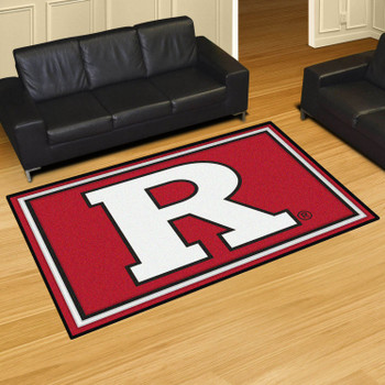 5' x 8' Rutgers University Red Rectangle Rug
