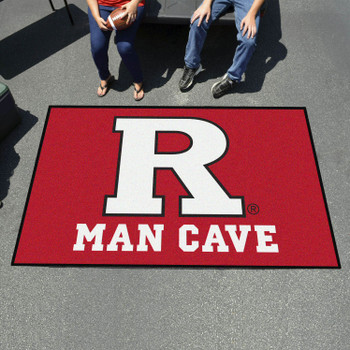 "59.5"" x 94.5"" Rutgers University Man Cave Red Rectangle Ulti Mat"