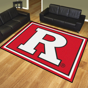 8' x 10' Rutgers University Red Rectangle Rug