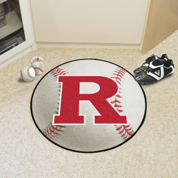 """27"""" Rutgers University Baseball Style Round Mat"""