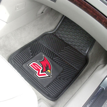Saginaw Valley State University Heavy Duty Vinyl Front Black Car Mat, Set of 2
