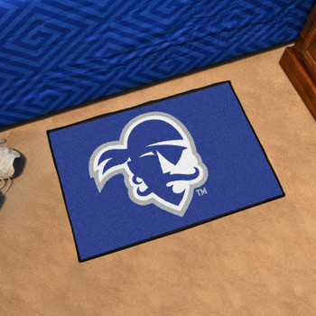 "19"" x 30"" Seton Hall University Blue Rectangle Starter Mat"