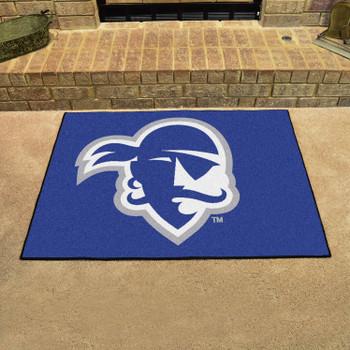 "33.75"" x 42.5"" Seton Hall University All Star Blue Rectangle Mat"