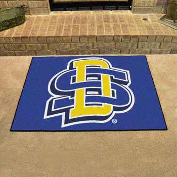 "33.75"" x 42.5"" South Dakota State University All Star Blue Rectangle Mat"