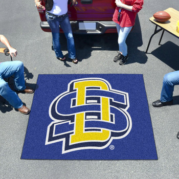 "59.5"" x 71"" South Dakota State University Blue Tailgater Mat"