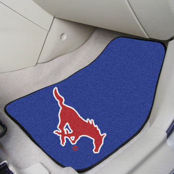 Southern Methodist University Blue Carpet Car Mat, Set of 2