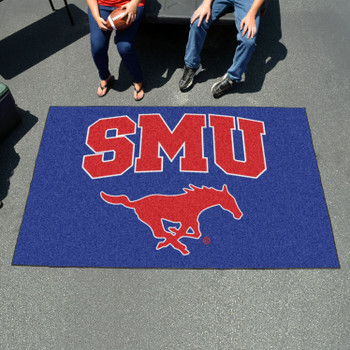 "59.5"" x 94.5"" Southern Methodist University Blue Rectangle Ulti Mat"