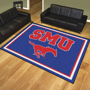8' x 10' Southern Methodist University Blue Rectangle Rug