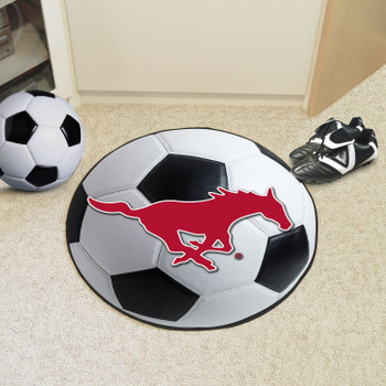 "27"" Southern Methodist University Soccer Ball Round Mat"