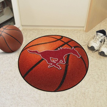"27"" Southern Methodist University Basketball Style Round Mat"