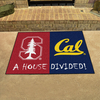 "33.75"" x 42.5"" Stanford / UC-Berkeley House Divided Rectangle Mat"
