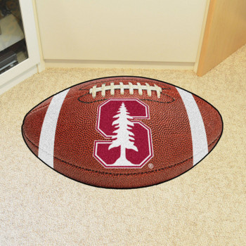 "20.5"" x 32.5"" Stanford University Football Shape Mat"
