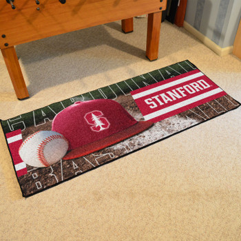 "30"" x 72"" Stanford Baseball Style Rectangle Runner Mat"
