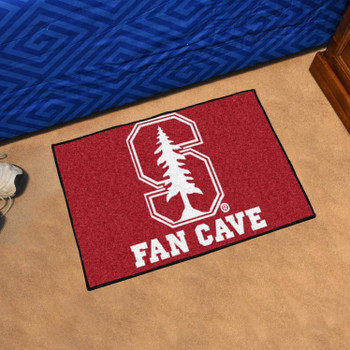 Stanford University Fan Cave Starter Red Rectangle Mat