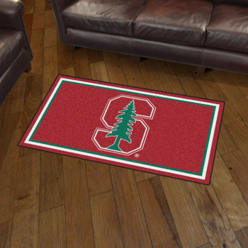 3' x 5' Stanford University Red Rectangle Rug