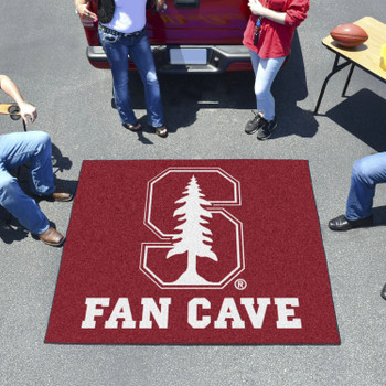 "59.5"" x 71"" Stanford University Fan Cave Red Tailgater Mat"