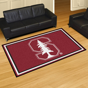 5' x 8' Stanford University Red Rectangle Rug