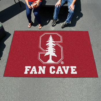 "59.5"" x 94.5"" Stanford University Fan Cave Red Ulti Mat"