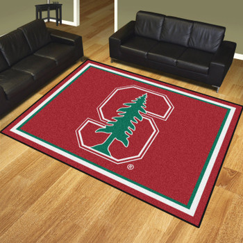 8' x 10' Stanford University Red Rectangle Rug
