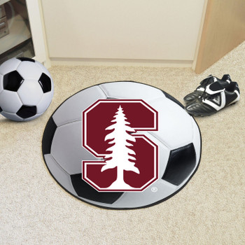 "27"" Stanford University Soccer Ball Round Mat"