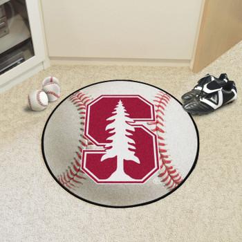"27"" Stanford University Baseball Style Round Mat"