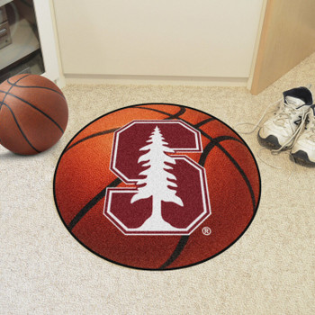 "27"" Stanford University Basketball Style Round Mat"