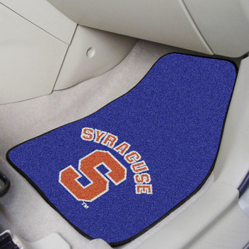 Syracuse University Blue Carpet Car Mat, Set of 2