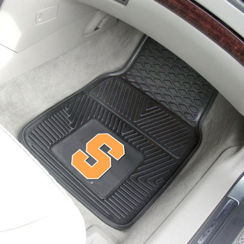 Syracuse University Heavy Duty Vinyl Front Black Car Mat, Set of 2