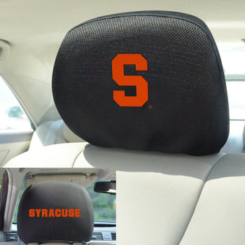 Syracuse University Car Headrest Cover, Set of 2